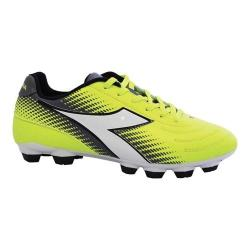 Women's Diadora Mago R LPU Soccer Cleat Yellow Fluo/Silver/White