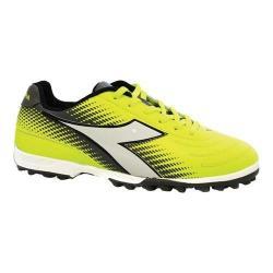 Women's Diadora Mago R Turf Shoe Yellow Fluo/Silver/White