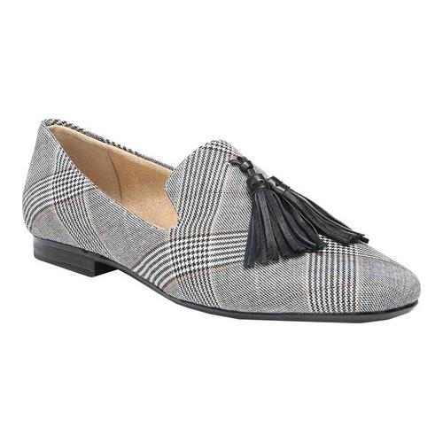 43df474a85c Shop Women s Naturalizer Elly Tassel Smoking Loafer Black White Plaid  Fabric - Free Shipping Today - Overstock - 18151216