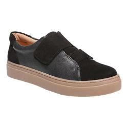 Women's Naturalizer Charlie Hook and Loop Sneaker Black Leather/Suede Leather