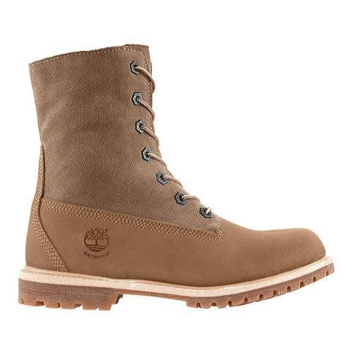 many fashionable super cute latest Women's Timberland Authentics Teddy Fleece Waterproof Fold-Down Boot Taupe  Nubuck   Overstock.com Shopping - The Best Deals on Boots