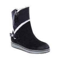 Women's White Mountain Teague Winter Boot Black Suede