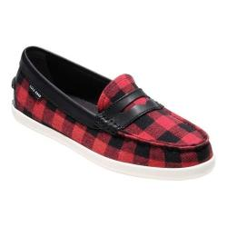 Women's Cole Haan Pinch Weekender Loafer Buffalo Plaid/Black Leather/Optic White