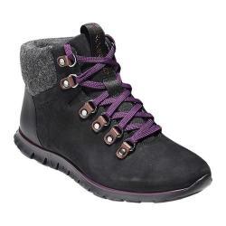 Women's Cole Haan ZEROGRAND Hiker Boot Black/Elderberry Leather