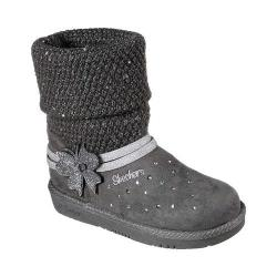 Girls' Skechers Twinkle Toes Glamslam Cuddle Ups Sweater Boot Charcoal