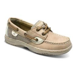 Girls' Sperry Top-Sider Bluefish Kid Boat Shoe Linen/Oat Leather