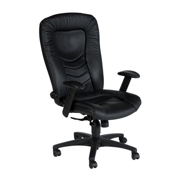 sealy posturepedic black italian leather office chair - free