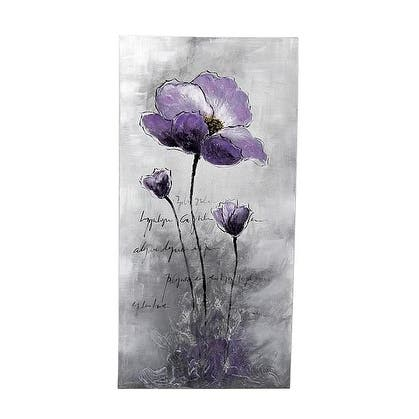 "39.5""H Purple,Blue,Black Canvas - Purple - 20 x 40"