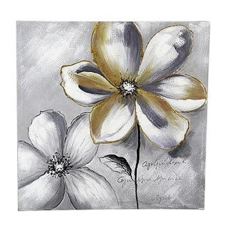 "31.5""H White, Grey Canvas - 30 x 30"