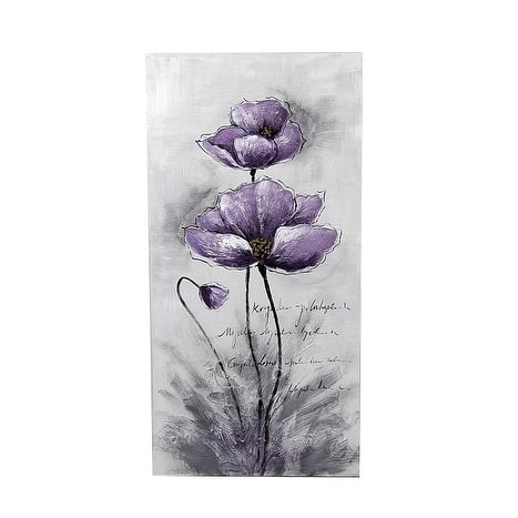 "39.5""H Purple,Blue,Black Canvas - Purple - 20 x 40"