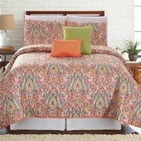 Amrapur Overseas Casanova 5-Piece Printed Reversible Quilt Set