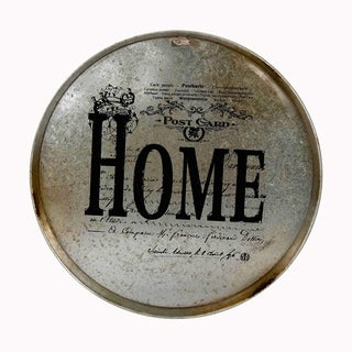 "17.9""H Brown Metal Wall Decor"