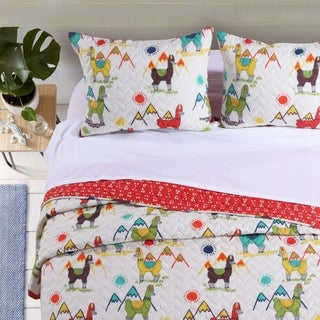 Barefoot Bungalow Cuzco Llama Quilt Set (3 options available)