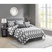 Nanshing Nadia Grey - 7 pc Comforter Set