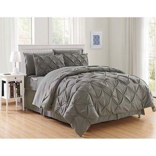 Elegant Comfort 8-Piece Bed-in-a-Bag Pintuck Comforter Set (More options available)