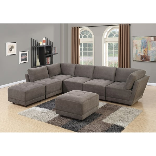 Shop Granada 7-Piece Modular Sectional Sofa Set Upholstered in ...
