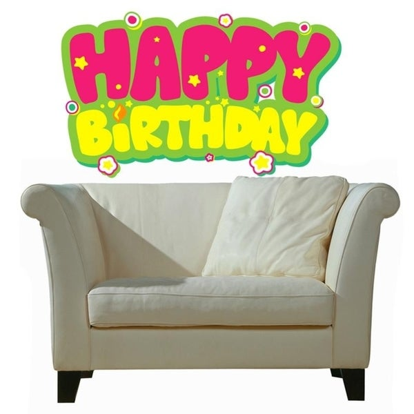 Hy Birthday Full Color Wall Decal Sticker An 654 Frst Size