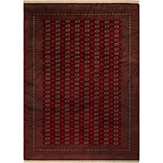 Bokara Arya Menkent Red/Gold Wool Rug (9'3 x 11'9) - 9 ft. 3 in. x 11 ft. 9 in.
