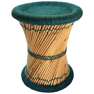 Natural Geo Moray Decorative Handwoven Jute Accent Stool (Set of 2)