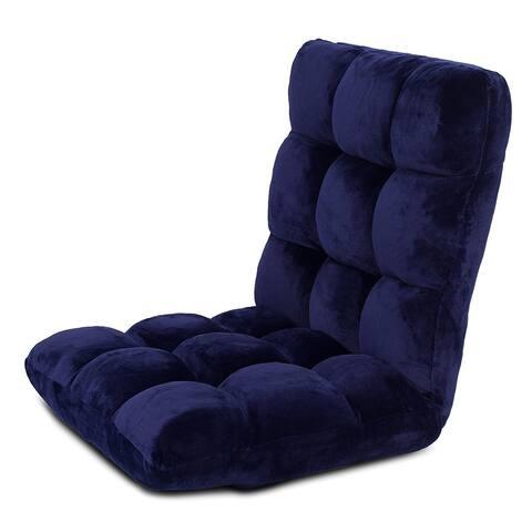 BirdRock Home Adjustable 14-Position Memory Foam Floor Chair & Gaming Chair (Blue)