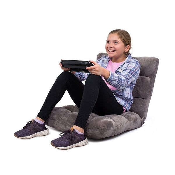 BirdRock Home Adjustable 14-Position Memory Foam Floor Chair & Gaming Chair (Grey)