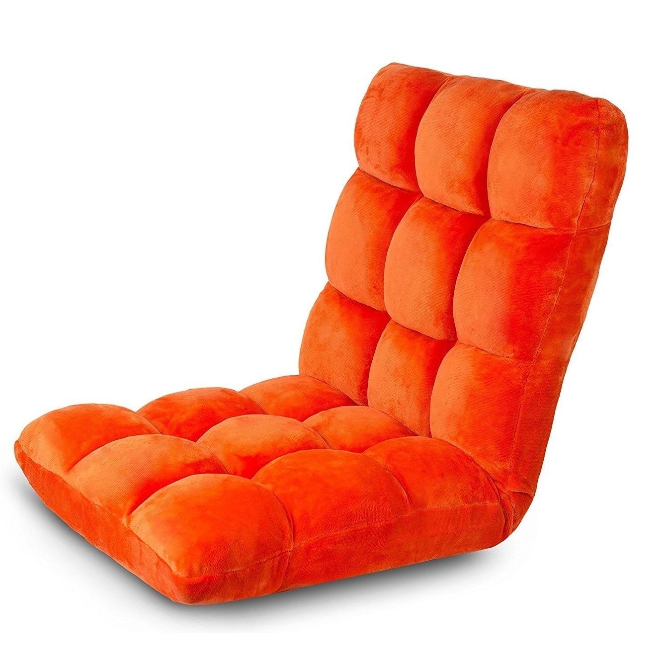 Wondrous Birdrock Home Adjustable 14 Position Memory Foam Floor Chair Gaming Chair Orange Theyellowbook Wood Chair Design Ideas Theyellowbookinfo