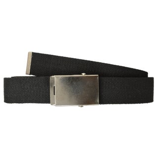 AFONiE - Long Adjustable Canvas Belt for Men