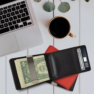 AFONiE - Minimalist Leather Money Clips Wallets