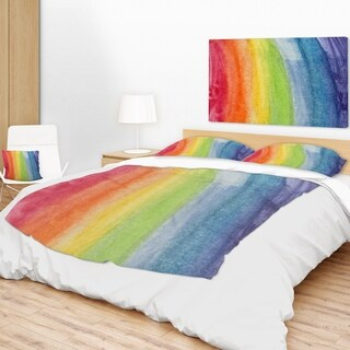 Designart 'Flowing Rainbow Colors' Abstract Throw Blanket (2 options available)