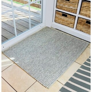 """Natural Geo Pebble Gray Area Rug with Padding - 2'6"""" x 2'11"""""""