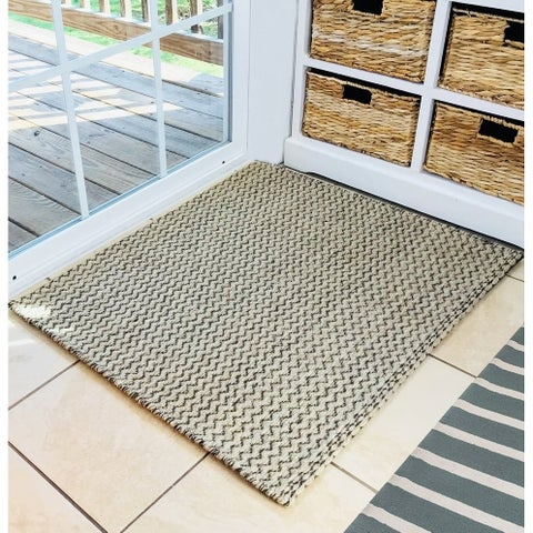 """Natural Geo Charlestown Natural/Brown Area Rug with Padding - 2'4"""" x 2'10"""""""