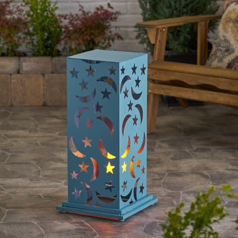 Romeo Outdoor 23-Inch Cutout Lantern by Christopher Knight Home