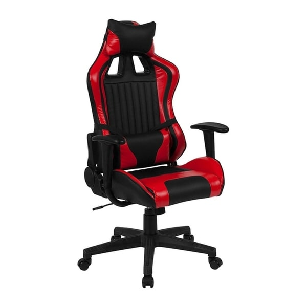 Offex Cumberland Comfort Series High Back Executive Reclining Racing/Gaming Swivel Chair with Adjustable Lumbar Support