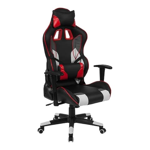 Offex Cumberland Comfort Series High Back Executive Reclining Racing/Gaming Swivel Chair with Lumbar Support