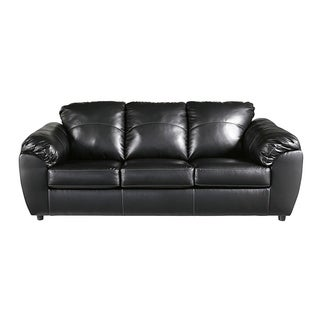 Offex Benchcraft Fezzman Sofa in Black Leather