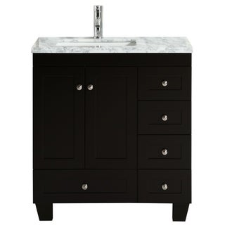 "Eviva Happy  30"" x 18"" Espresso Bathroom Vanity"