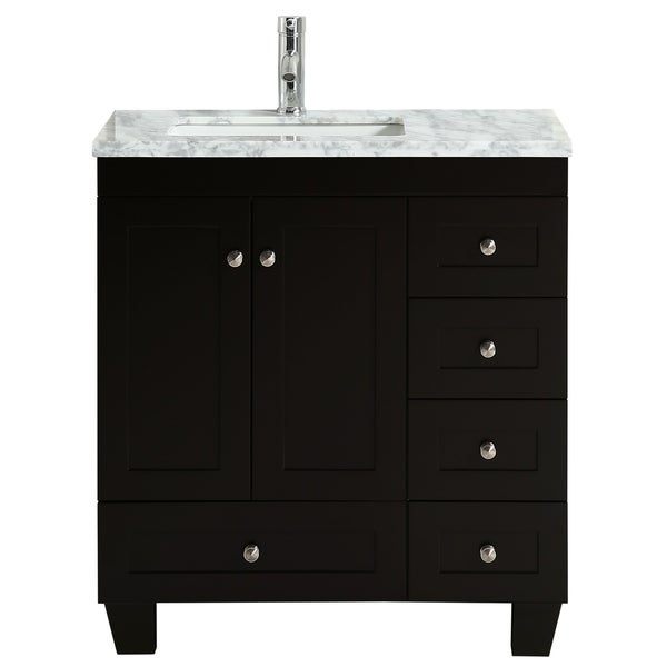 "Shop Eviva Happy 30"" x 18"" Espresso Bathroom Vanity - On ..."