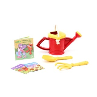 Green Toys Sesame Street Watering Can Outdoor Activity Set - Elmo