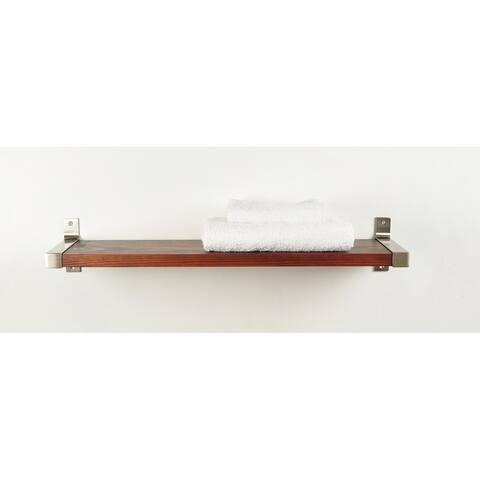 Wood Shelf Modern Industrial Style Metal Brackets