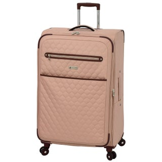 London Fog Calypso 28-inch Expandable Spinner Upright Suitcase (Option: Apricot)
