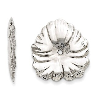 14 Karat White Gold Floral Earring Jackets, by Versil