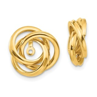 14 Karat Polished Love Knot Earring Jackets, by Versil