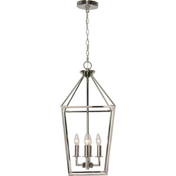 Renwil Pullman 4-light Polished Nickel Finish Ceiling Fixture