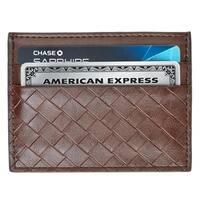 AFONiE - Minimalist Wallet, Slim Thin Leather Card Holder Wallet