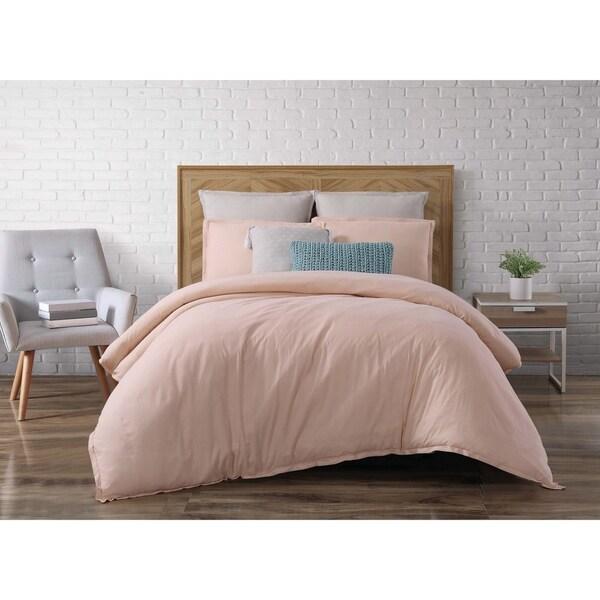 Brooklyn Loom Chambray Loft 3 Piece Comforter Set