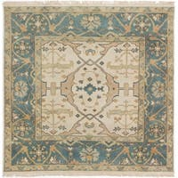 eCarpetGallery Hand-knotted Royal Ushak Cream Wool Rug - 5'0 x 5'0