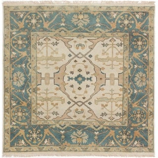 eCarpetGallery Hand-knotted Royal Ushak Cream Wool Rug (5'0 x 5'0) - 5'0 x 5'0