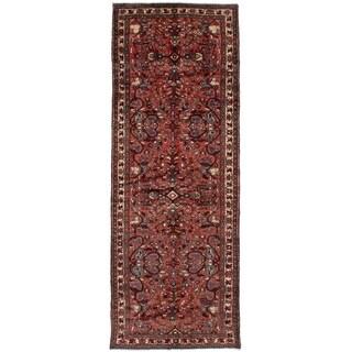 eCarpetGallery Hand-knotted Hamadan Dark Copper Wool Rug - 3'7 x 9'10