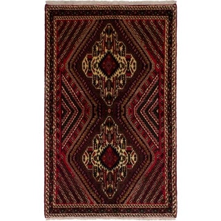 eCarpetGallery Hand-knotted Afshar Red Wool Rug - 3'3 x 5'2