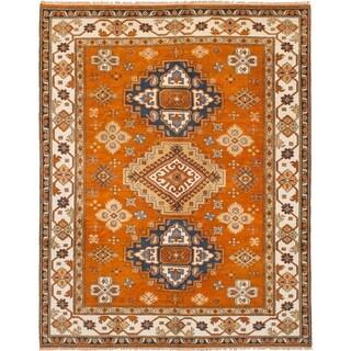 eCarpetGallery Hand-knotted Royal Kazak Orange Wool Rug (8'0 x 10'0) - 8'0 x 10'0